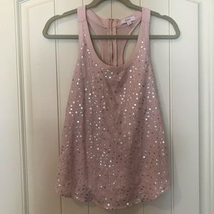 Candies pink racerback top sequins size small
